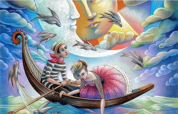 Pareja-navegando-en-una-barca